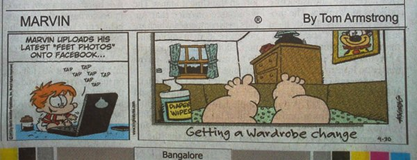 NEWSCLIP - Cartoon - Marvin - Pedebear on Facebook Wall