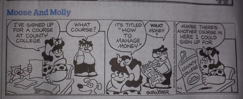 Moose and Molly cartoon.