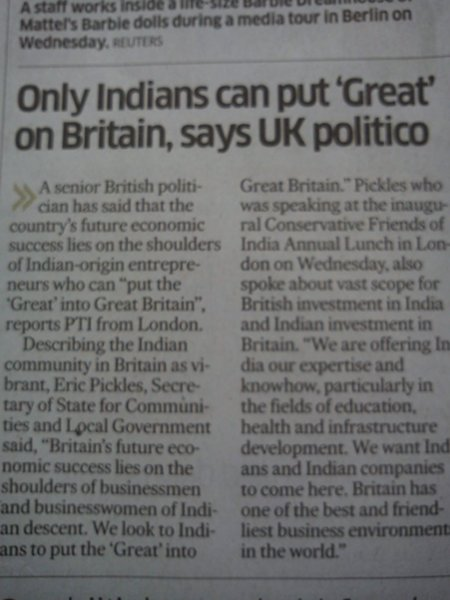 NEWSCLIP - DH - Only Indians Can Save Britain