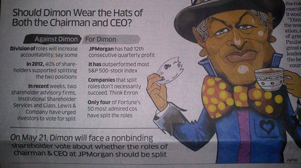 ET report on JP Morgan vote