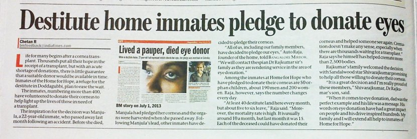 Here, the inmates of a destitute home were given a choice they could not refuse.