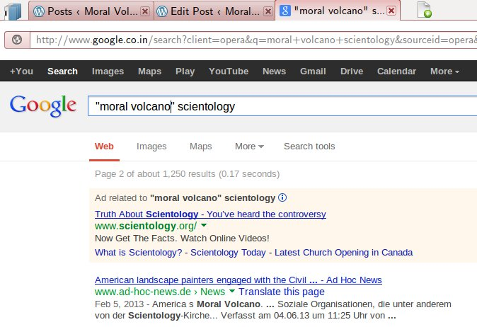 WEBPAGE - Google Ad - Scientology Responds