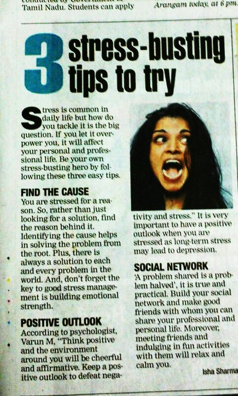 Arm chair Times of India mental health advice