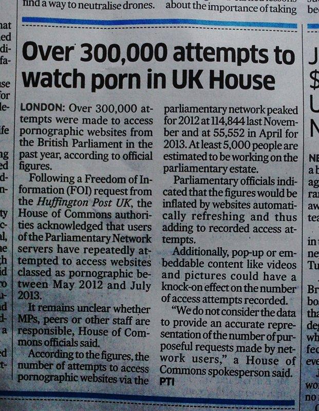 Porn access at UK Parliament