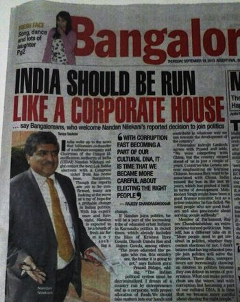 NEWSCLIP-TOI-India-run-like-a-corporate-house