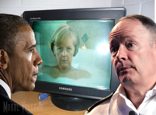 Obama has been watching Angela Merkel since 2002 and still is not convinced she is not al Qaeda.