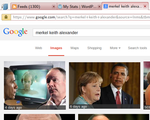 An image search for keith alexander and merkel.