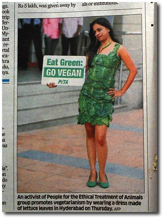 c9c7aa9a66 PETA women wearing lettuce leaves should be fed to lions | Moral ...
