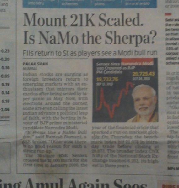 Rajan got the job. Let's move on to the next target. ET credits Modi for the latest rally.