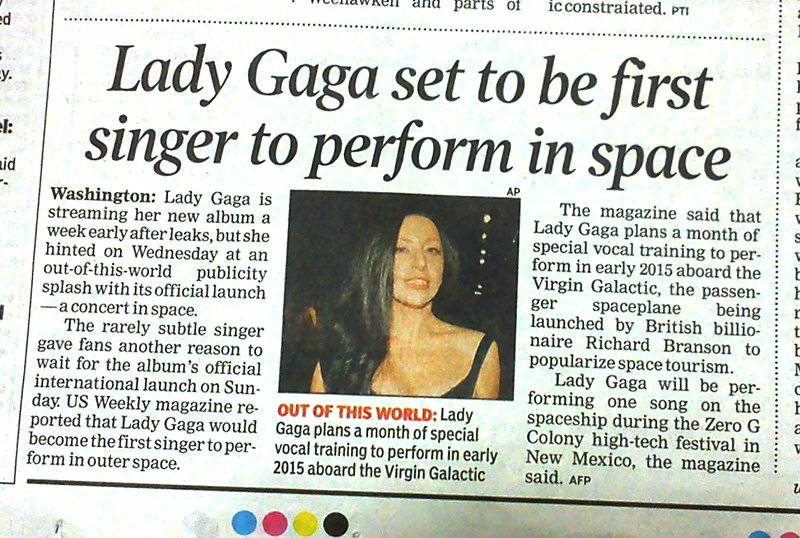 Exile Lady Gaga her to space. Let here sing all she wants there.