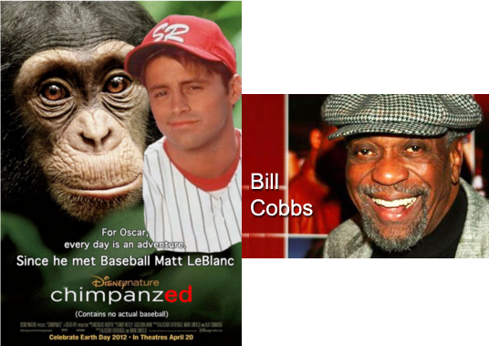 The outline of the black man's face was replace with that of a chimp - probably in this movie.