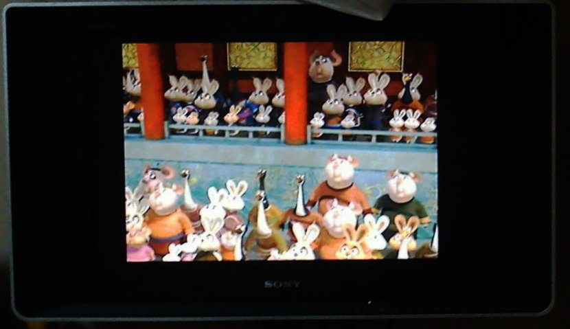 Most of extras in the movie Kung Fu Panda are pigs and rabbits.