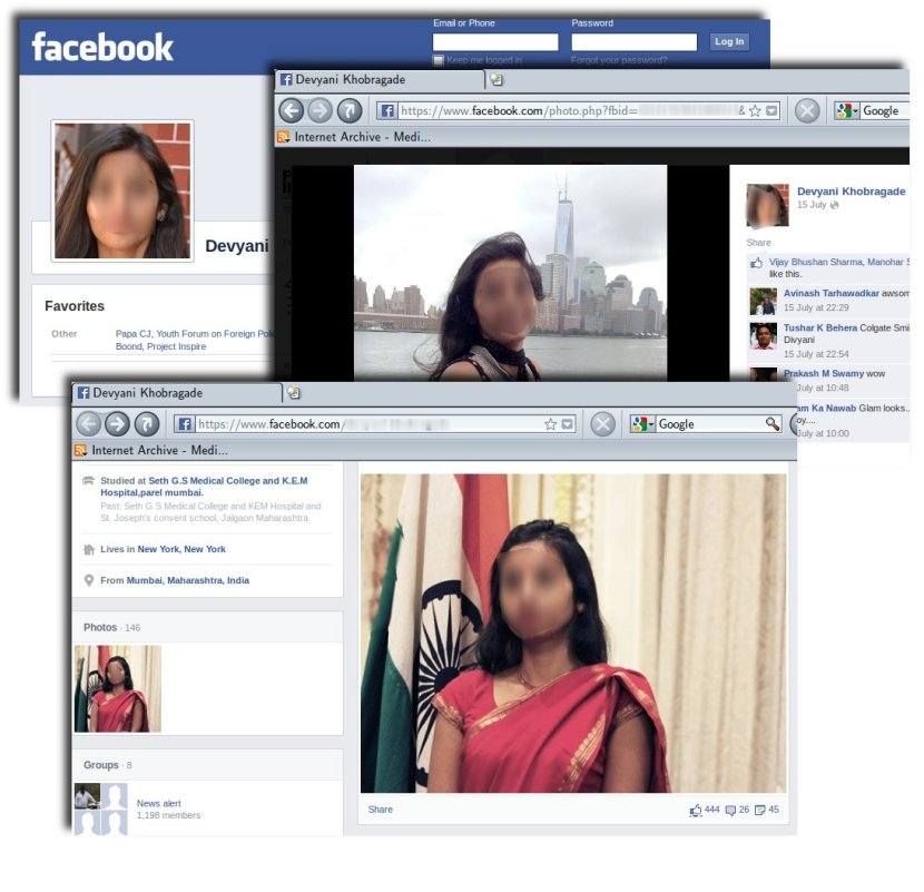 Newspapers stole her photographs from her Facebook page.