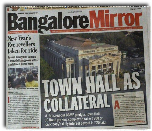 BBMP almost pledges Townhall.