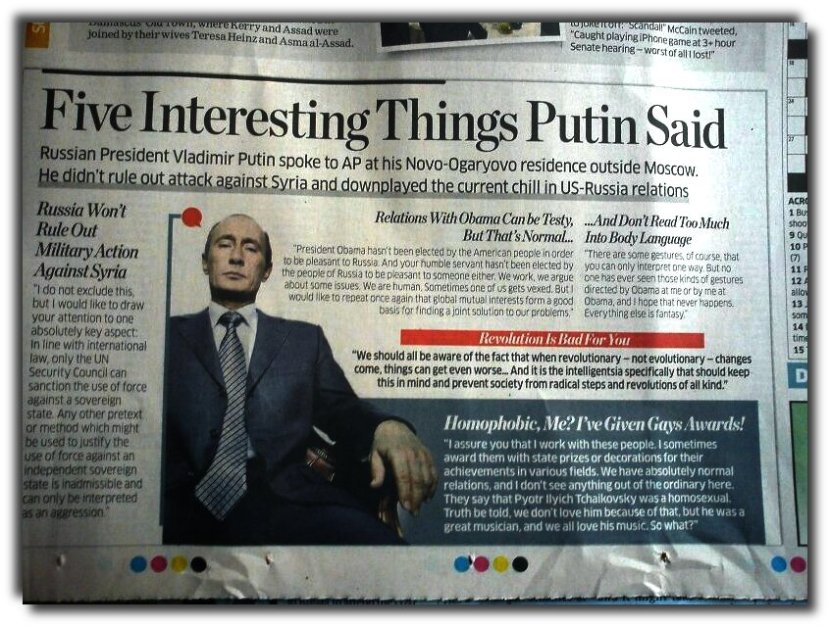 AP knows that Putin is not anti-homosexuals. Yet, it has no problems in repeating the lies.