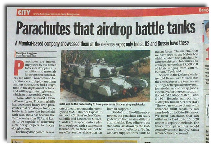 NEWSCLIP-ET-Parachutes-to-drop-tanks-Made-in-India
