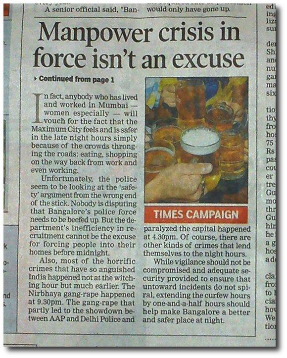 Times Booze Campaign