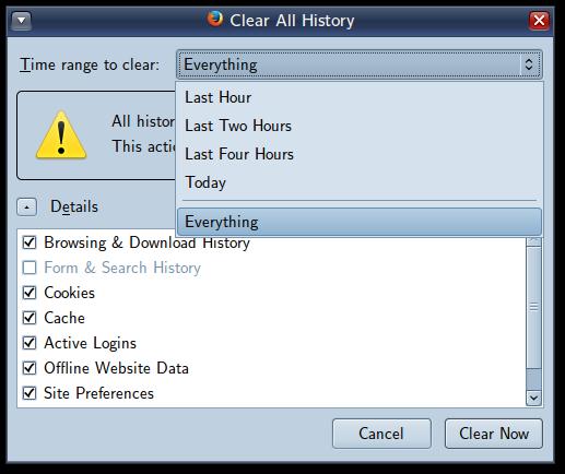 Screenshot-Clear All History
