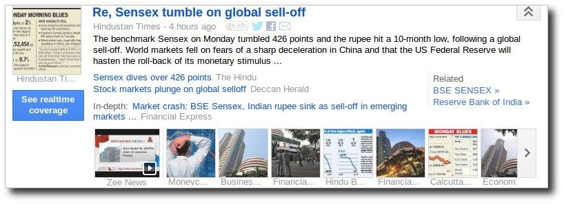 Share market tumbles despite Modi in the PM race.