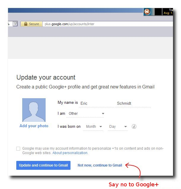 You don't need a Google+ account.