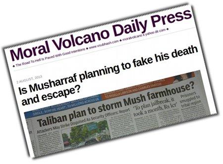 Musharraf has tried fake his death earlier too.