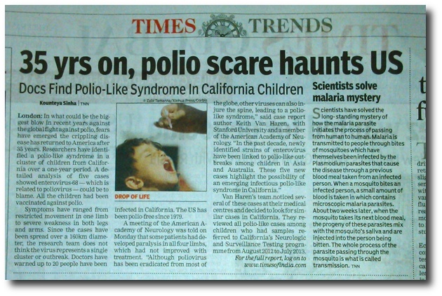 Times of India report