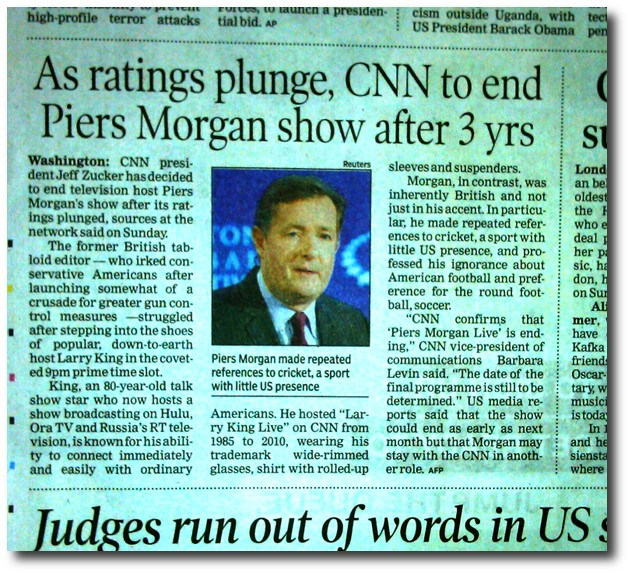 CNN drops Piers Morgan show.