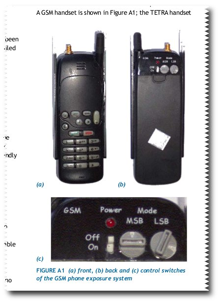 State-of-the-art mobile phones used in the British study that allegedly exonerated mobile phones of  cancer risk.