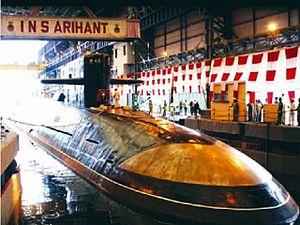 Arihant nuclear submarine.