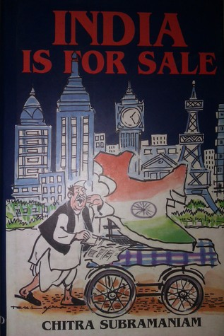 "For some reason, this book ""India is for sale"" is no longer published with the cartoon on the cover. They may have changed publishers."