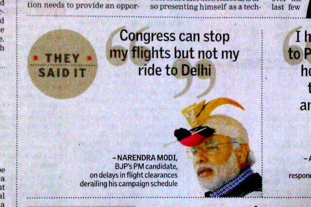 Manmole Singh's government delays Modi's planes.
