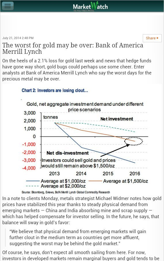 By dumping paper gold, the Rothschild eased gold supply by forcing ETFs unload their physical gold stocks. Physical demand now catches up.