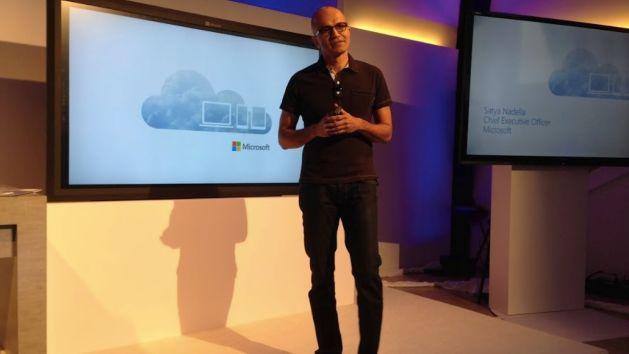 Satya Nadella, CEO of Microsoft, has a big head.