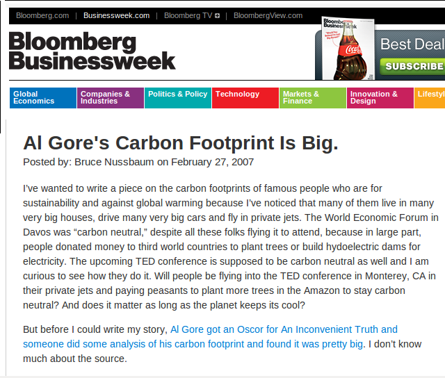 Al Gore, the Gulfstream millionaire is a leading cause of climate change.