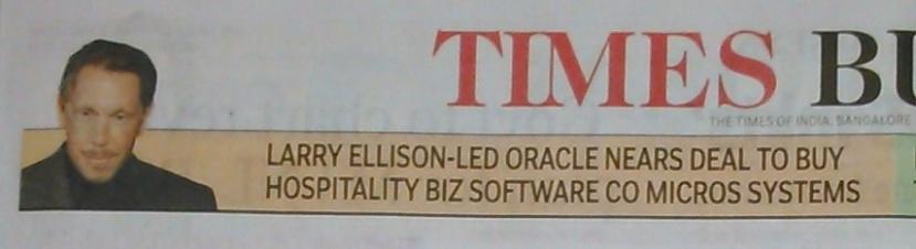 Larry Ellison-led Oracle buys some company.