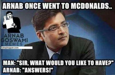 Arnab goes to McDonalds.