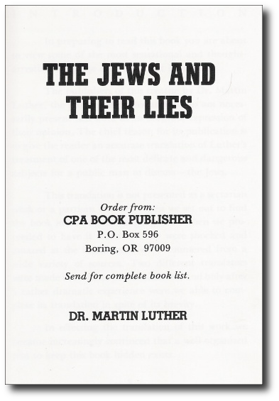 BOOKCOVER - Jews and Their Lies - Martin Luther