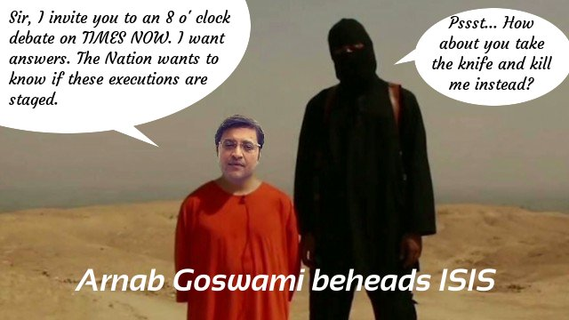 Arnab Goswami beheads ISIS and presents them a fate worse than death.