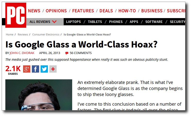 What Google Glass? Just gas!