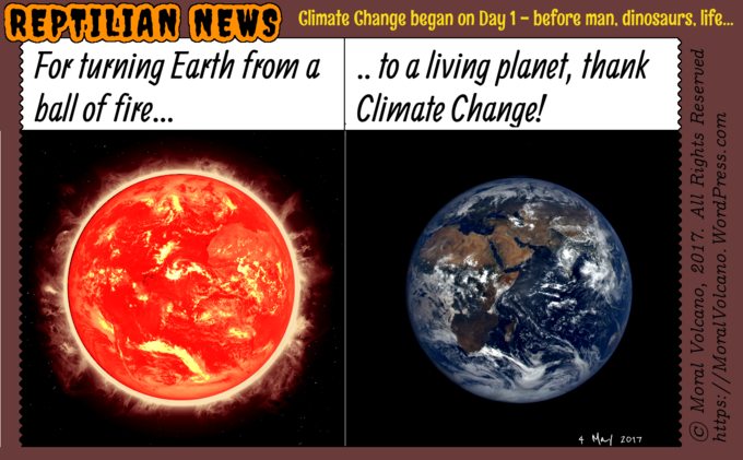 Reptilian News - Thank you, Climate Change