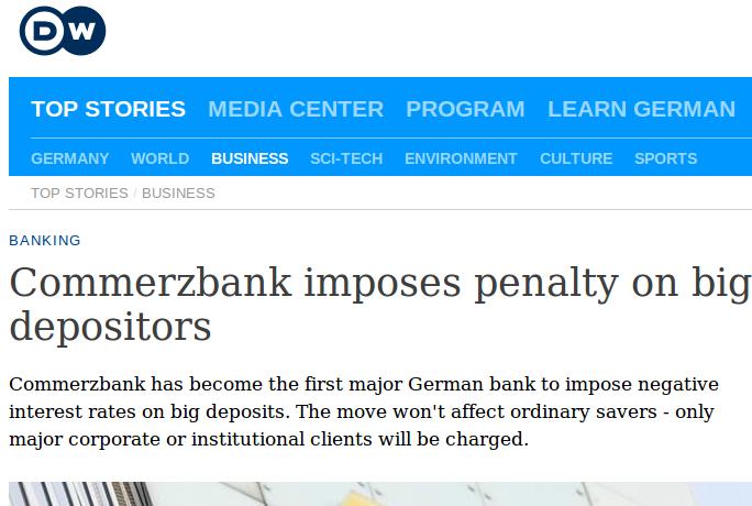 German banks grab money from depositors.