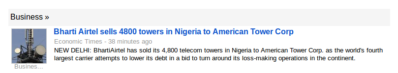 Airtel sells Nigeria cell towers after buying them at a premium.