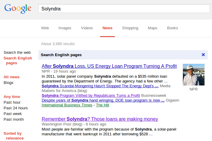 US Depart Of Energy claims Solyndra program has turned a profit when it has not