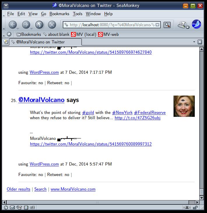 Desktop version of TweetsToRSS Server also has a web interface.