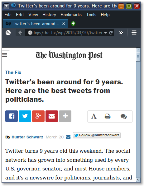 Twitter celebrated its 9th birthday recently but only after Dave Winer had been working on its RSS feeds for 10 years.