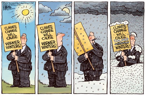 Climate Change fools change positions often than climate.
