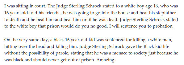 Same-day sentences by Judge Sterling Schrock for same type of crime