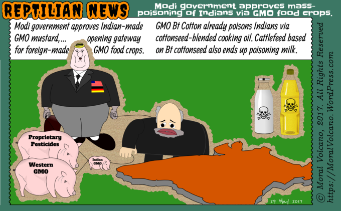 Reptilian News - GMO Bt-Cotton poisoning cows and humans
