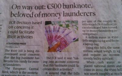 Developed countries have been withdrawing high-denomination notes... nothing new here.