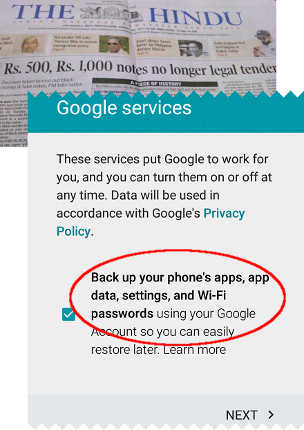 Any data stored by a banking app is automatically uploaded to Google servers.